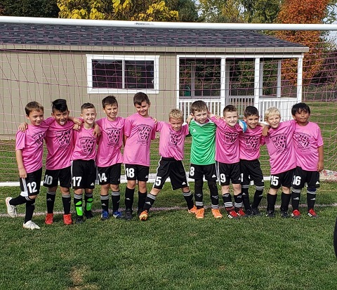 Thank You to our U9 boys Warminster Black Venom for supporting Breast Cancer Awareness month at WCP